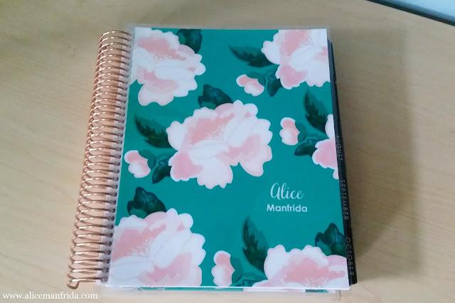 Erin Condren, Life Planner, ECLP, blossom, rose gold coil, planner, agenda, calendar, organization