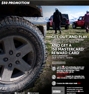 BF Goodrich Tire Coupons