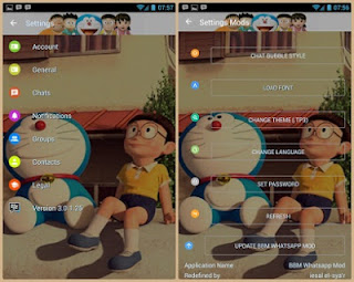 Download BBM MOD Doraemon 3D APK V3.0.1.25 Full Fitur