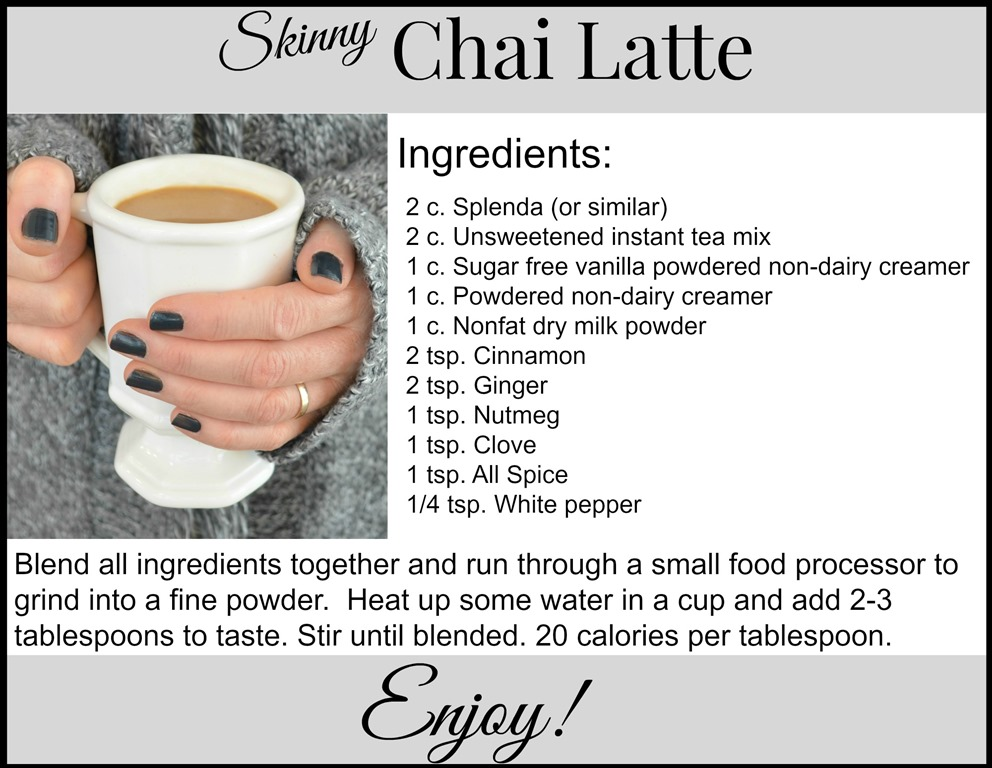 Skinny Chai Latte