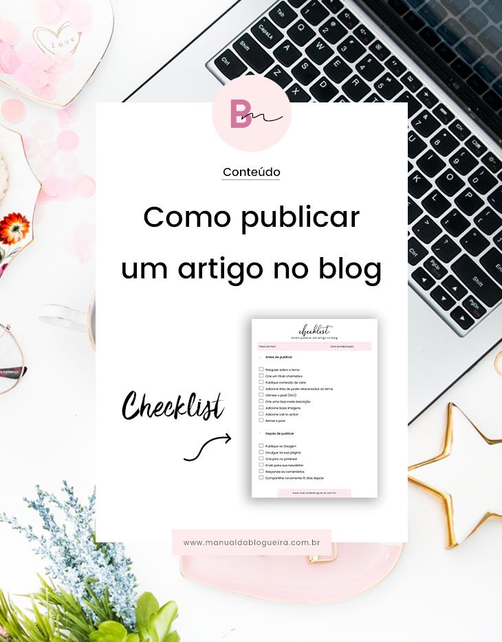 Como publicar um artigo no blog