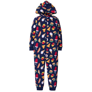 Food Hooded 1-Piece Pajama