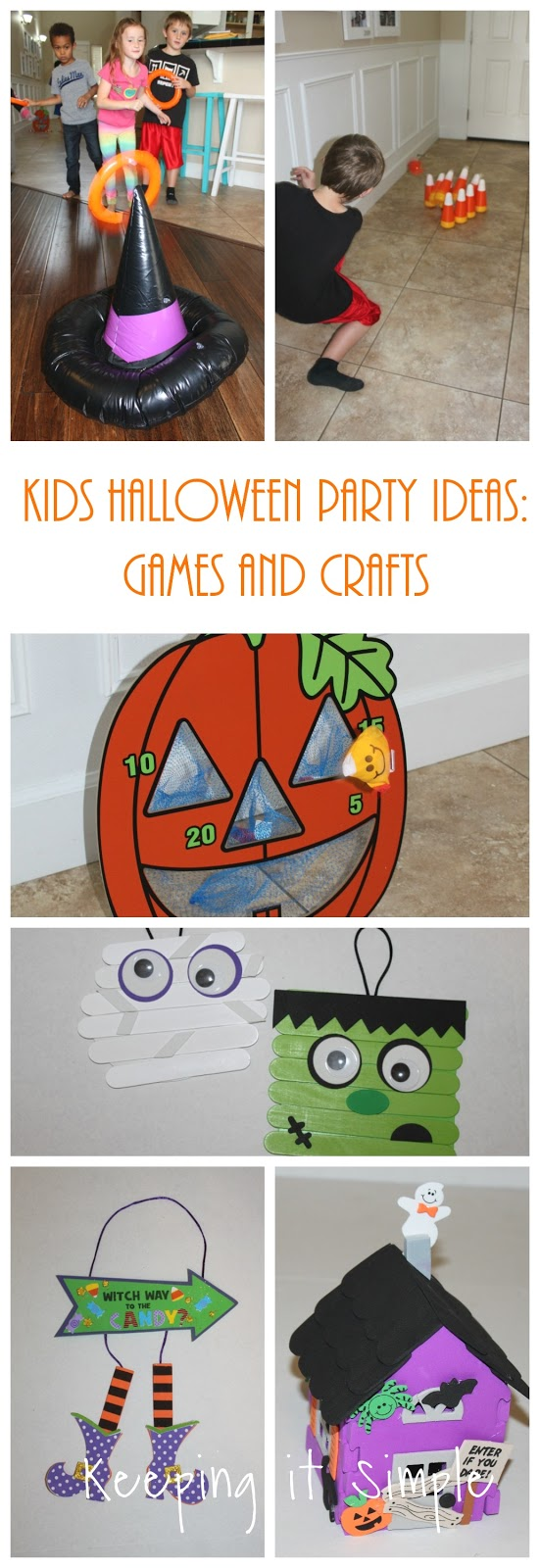Keeping it Simple: Kids Halloween Party Ideas- Games and Crafts