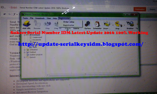 Serial Number IDM Update Terbaru 2016 Working