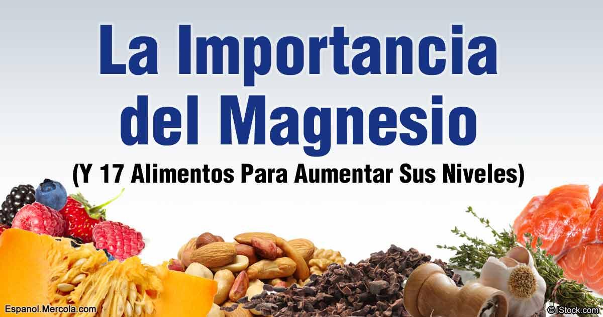 Natura salud la importancia del magnesio para el organismo - En que alimentos encontramos magnesio ...