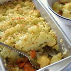 Receta para preparar pastel horneado de vegetales