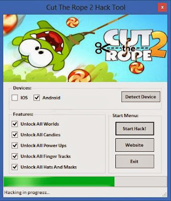 Download Free Cut The Rope 2 (All Versions) Hack Unlock All Worlds,Candies,Power Ups,Finger Tracks,Hats 100% working and Tested for IOS and Android.