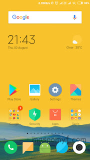 MIUI 10 Home Screen