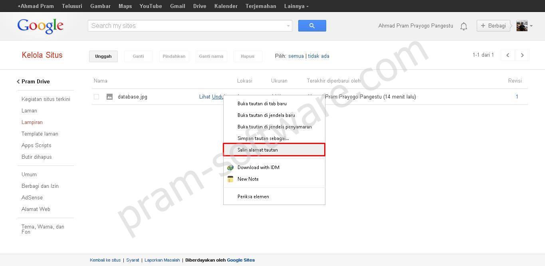 Share Link Google Sites