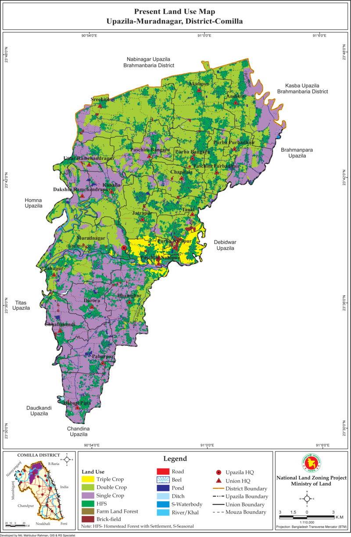 Muradnagar Upazila Mouza Map Comilla District Bangladesh