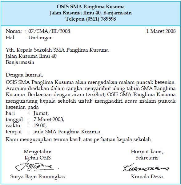 Bagian Bagian Dan Jenis Surat Dinas Contoh Surat Dinas