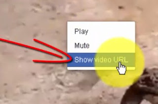 1. Klik kanan pada video, pilih menu Show video URL