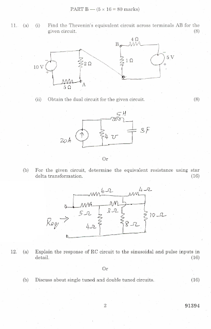 ec2151 electric circuits and electron devices be ece 2014