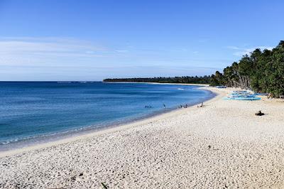 Blue beaches