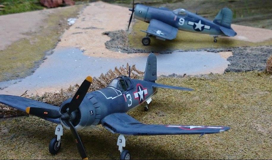 FalkeEins - My Modelling Blog: new tool 1:72nd Revell F4U Corsair - build review (2) - Jim Streig VF-17 ace