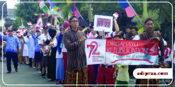 Arak-arakan pawai HUT Kemerdekaan RI Ke-72 | adipraa.com