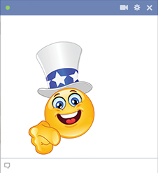 Uncle Sam Facebook smiley