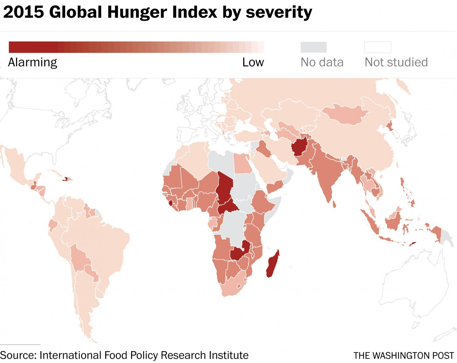Global Hunger Index by severity