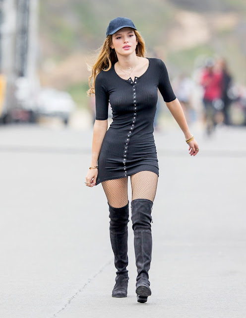 Bella Thorne is really sexy Slim tight beautiful goregous ass sexy boobs round ass on set of You Get Me Must see