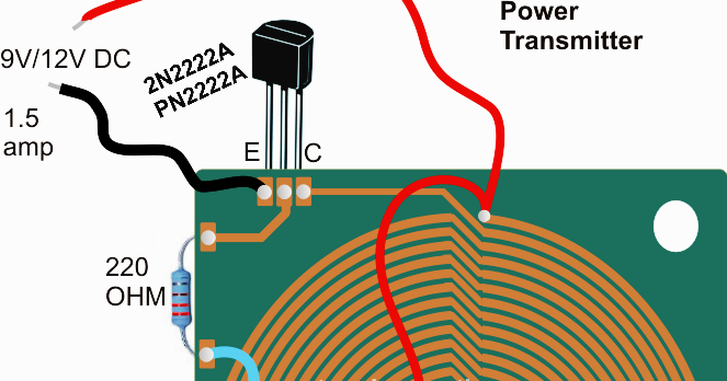 Wireless Cellphone Charger Circuit Electronic Circuit