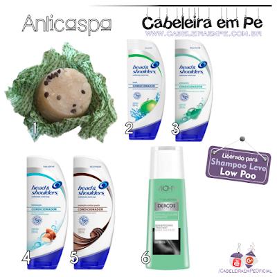 Shampoo sem sulfato anticaspa Dercos Vichy, Head and shoulders contra a caspa, Shampoo em Barra Sálvia, Juá e Cedro - Unevie para tratamento da caspa, liberados para Low Poo