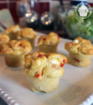 muffins lardons poivrons feta