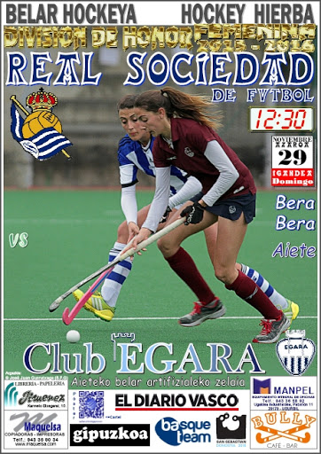 Cartel hockey 2015-11-29 Real Sociedad - Club Egara