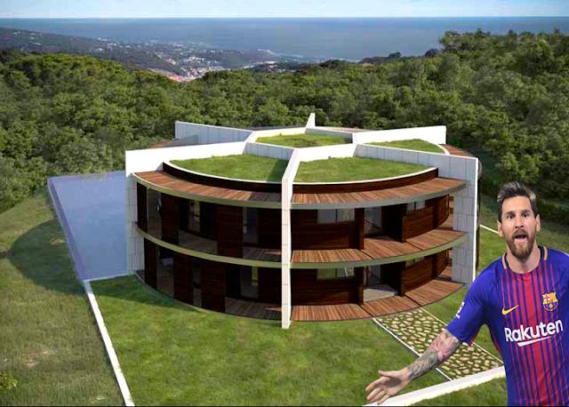 Rumah Berbentuk Bola Milik Lionel Messi