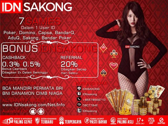 IDNSAKONG Agen Remi9 Judi Sakong Bandar Poker Online Indonesia