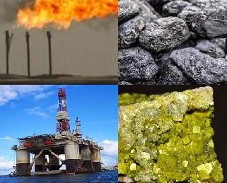 Energi fosil (minyak bumi, gas alam dan batu bara) dan uranium