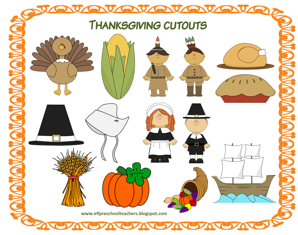 Esl Efl Preschool Teachers Thanksgiving 4th Edition