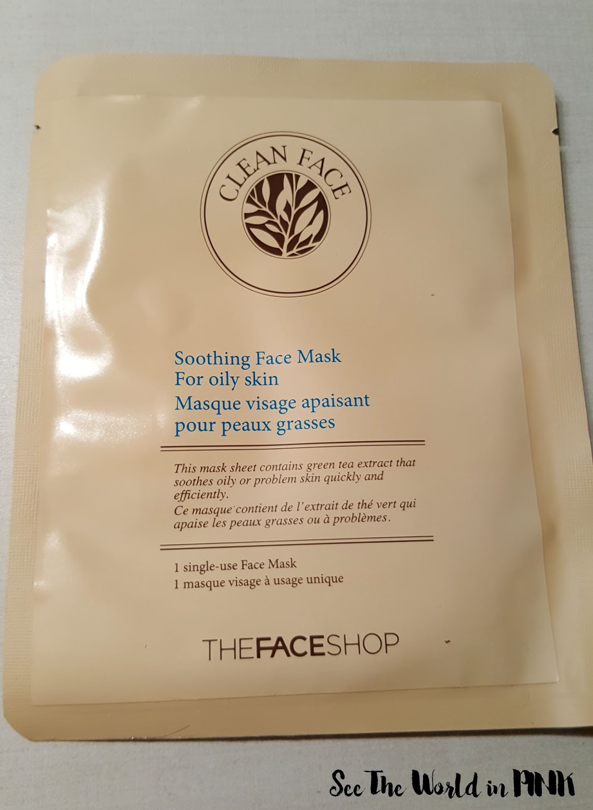 thefaceshop clean sebum control mask