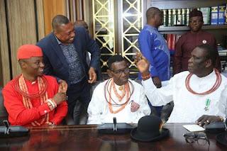 Okowa with delta traditional rulers , igwe