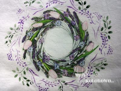 Wiosenna poduszka czyli zdobimy tkaninę