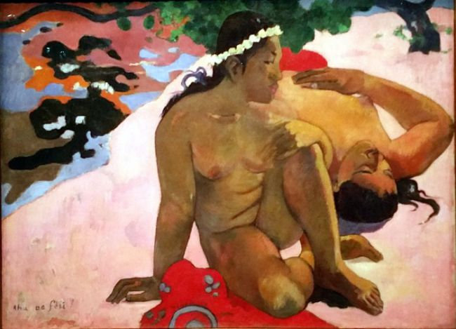 Paul Gauguin's Are You Jealous Painting at the Gauguin's the alchemist exhibition at Grand Palais