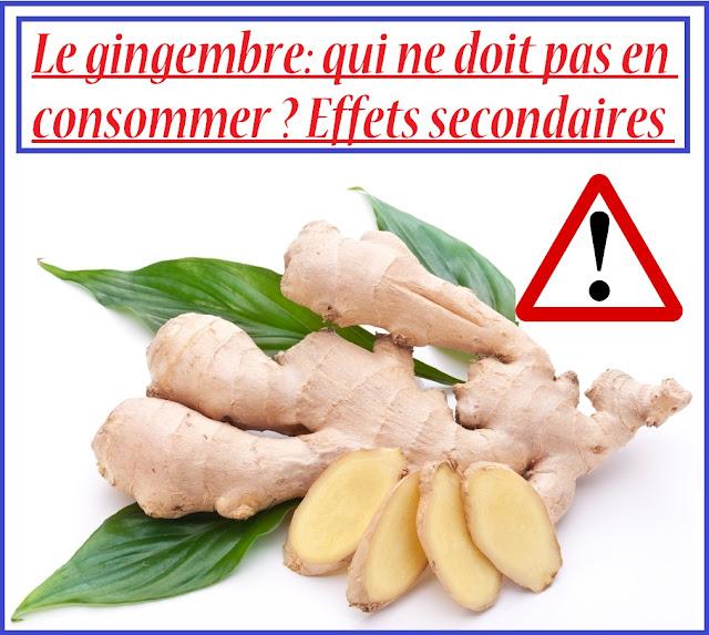 Le gingembre: qui ne doit pas en consommer ? Effets secondaires