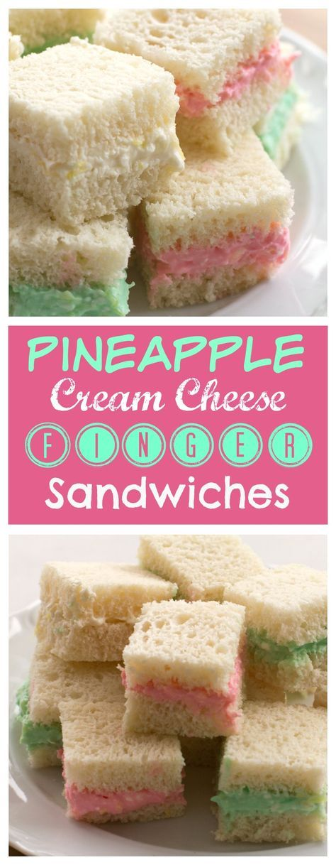 PINEAPPLE CREAM CHEESE FINGER SANDWICHES
