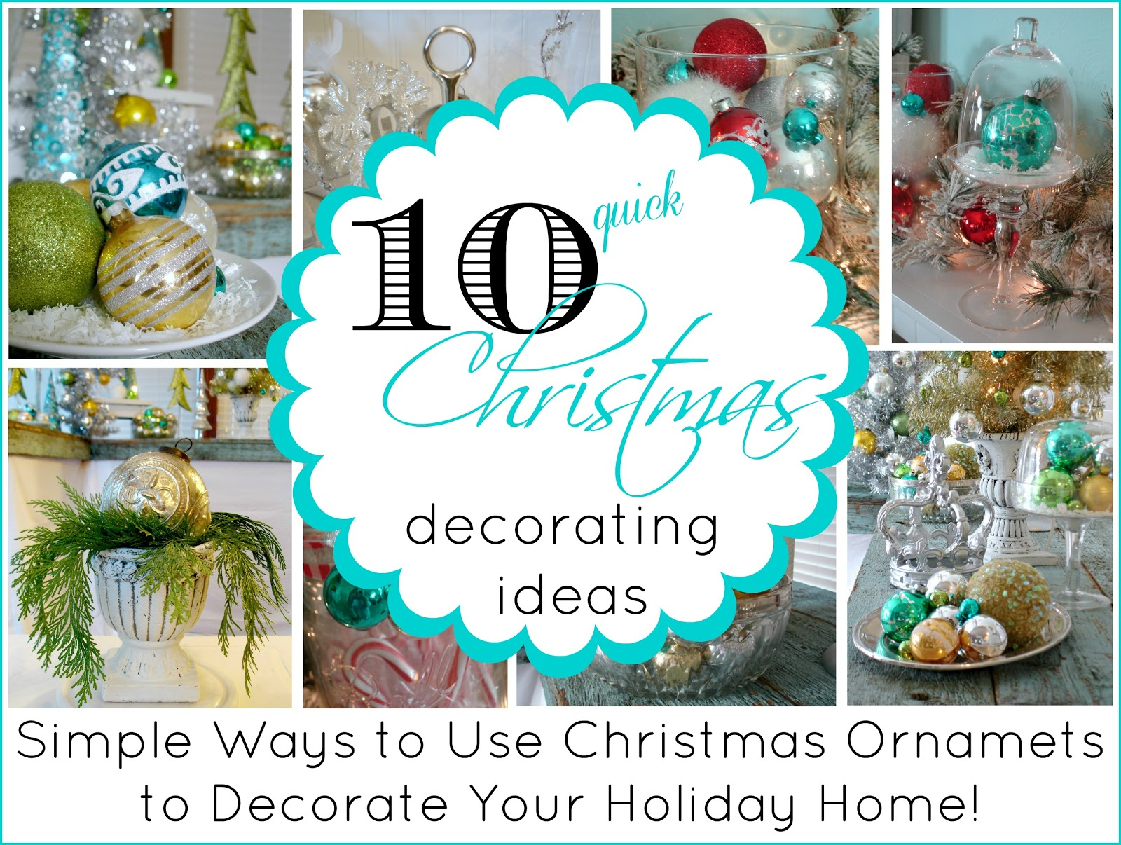 10 Quick Ideas For Decorating With Christmas Ornaments  sc 1 st  Fox Hollow Cottage & 10 Quick Ideas For Decorating With Christmas Ornaments - Fox Hollow ...