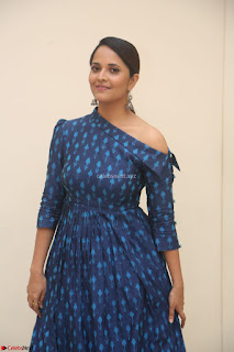 Anchor Anasuya in a Blue Gown at Jai Lava Kusa Trailer Launch ~  Exclusive Celebrities Galleries 038.JPG