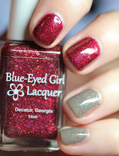 Blue-Eyed Girl Lacquer and Contrary Polish Destination Duo nail polish Meet Me Under the Marquee and Special Selection.