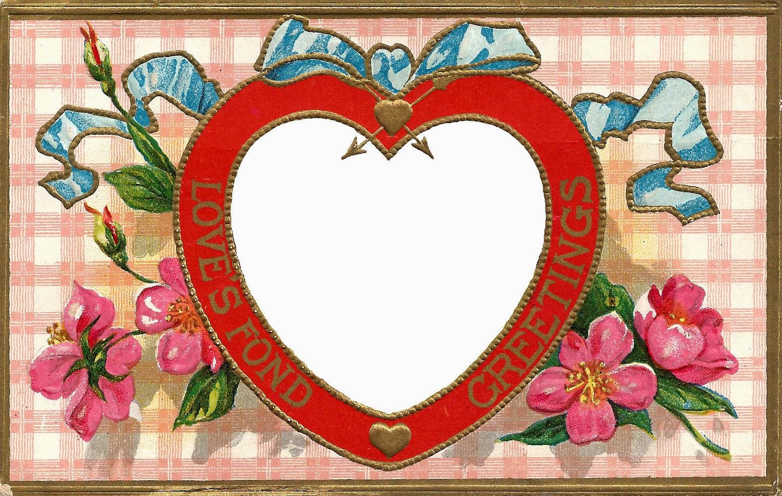 heart floral frame valentine - photo #34