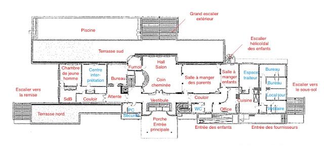 le blog des amis de la villa cavrois plans d 39 aide la visite de la villa cavrois. Black Bedroom Furniture Sets. Home Design Ideas