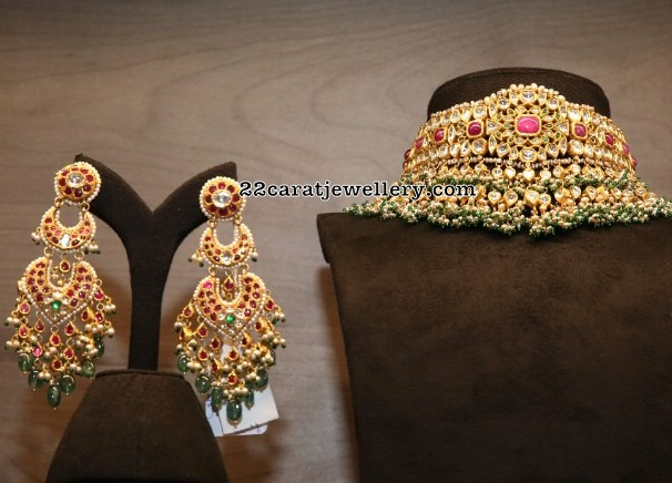 Kundan Set by Bajrang Pershad Jewellery