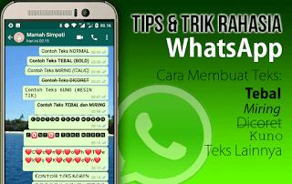 Tips dan Trik WhatsApp yang Tersembunyi