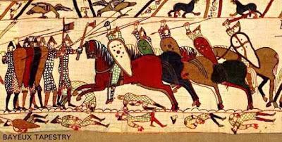 Soldados normandos (Tapiz de Bayeux)