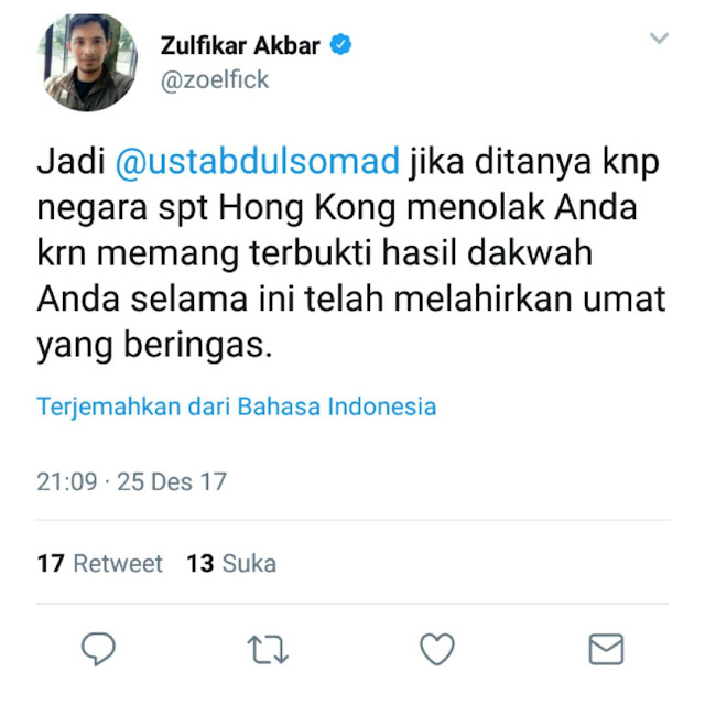 Penghina Ustad Abdul Somad Akhirnya Dipecat Dari Topskor