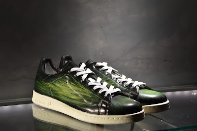 Stan Smith by Adidas, patine vert chasse nervurées by Paulus Bolten