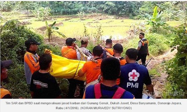 Semedi di Gunung Genuk, Pria 50 Tahun Asal Bandengan Jepara Tewas dalam Keadaan Bersila