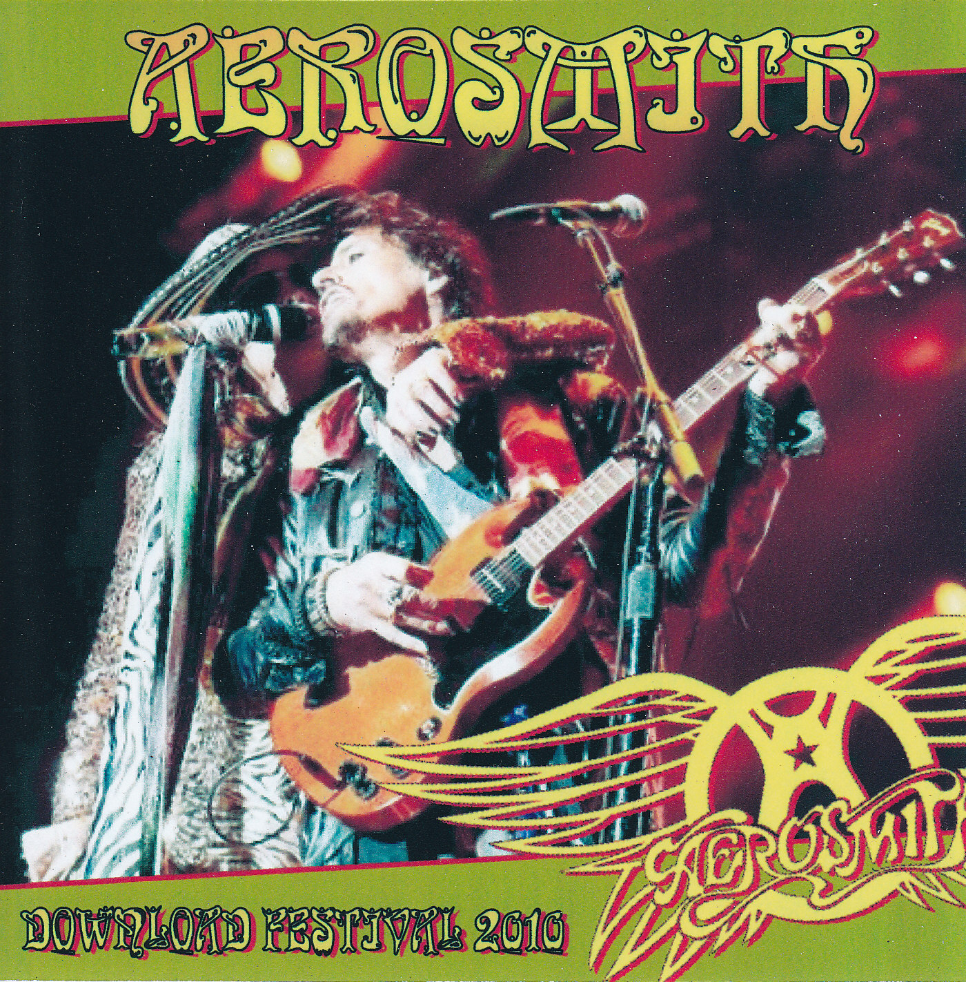 AEROSMITH BOOTLEGS COVER ARTS: DOWNLOAD FESTIVAL 2010 (Leicestershire )