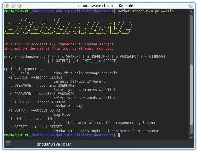 Shodanwave - Exploring and Obtaining Information from